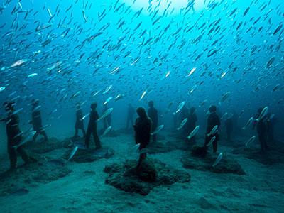 Onderwatermuseum, Museo Atlántico, Dive College Lanzarote, Playa Blanca