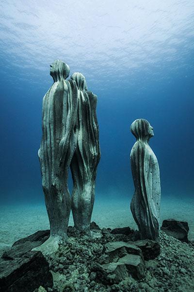 Museo Atlántico, Lanzarote, skulpturen, unterwassermuseum