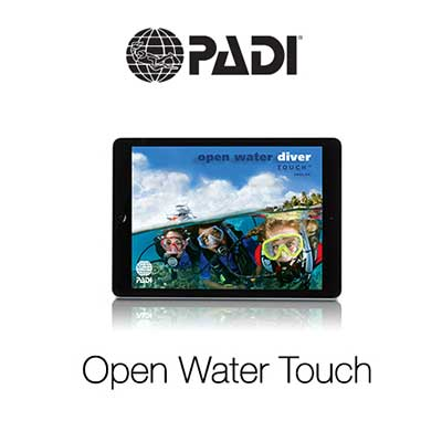 PADI, Open Water Touch, eLearning, Dive College Lanzarote, e-learning, online, cursus