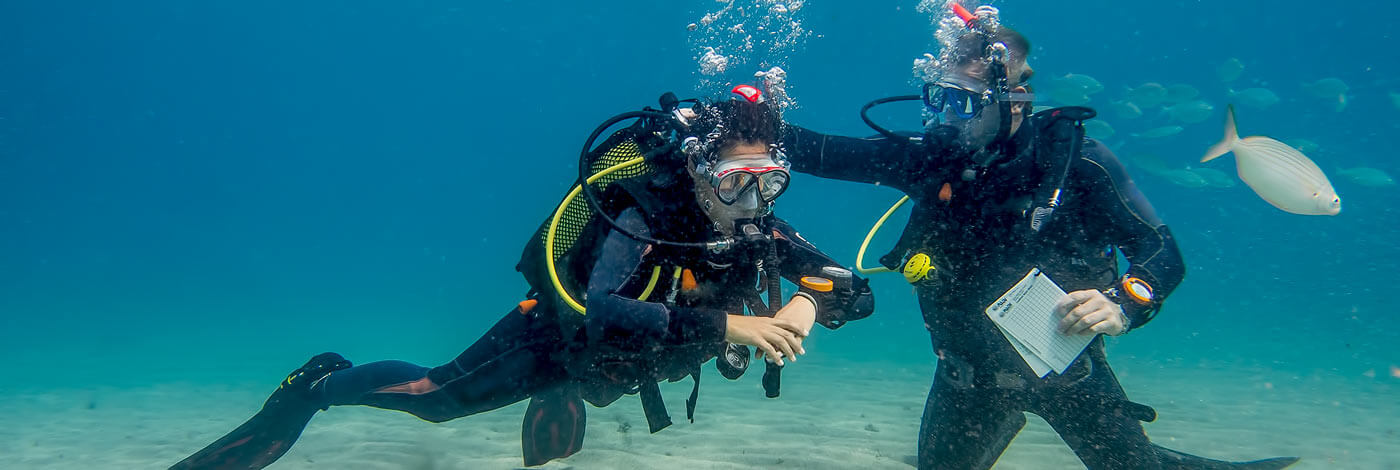 Open water diver dive college Lanzarote