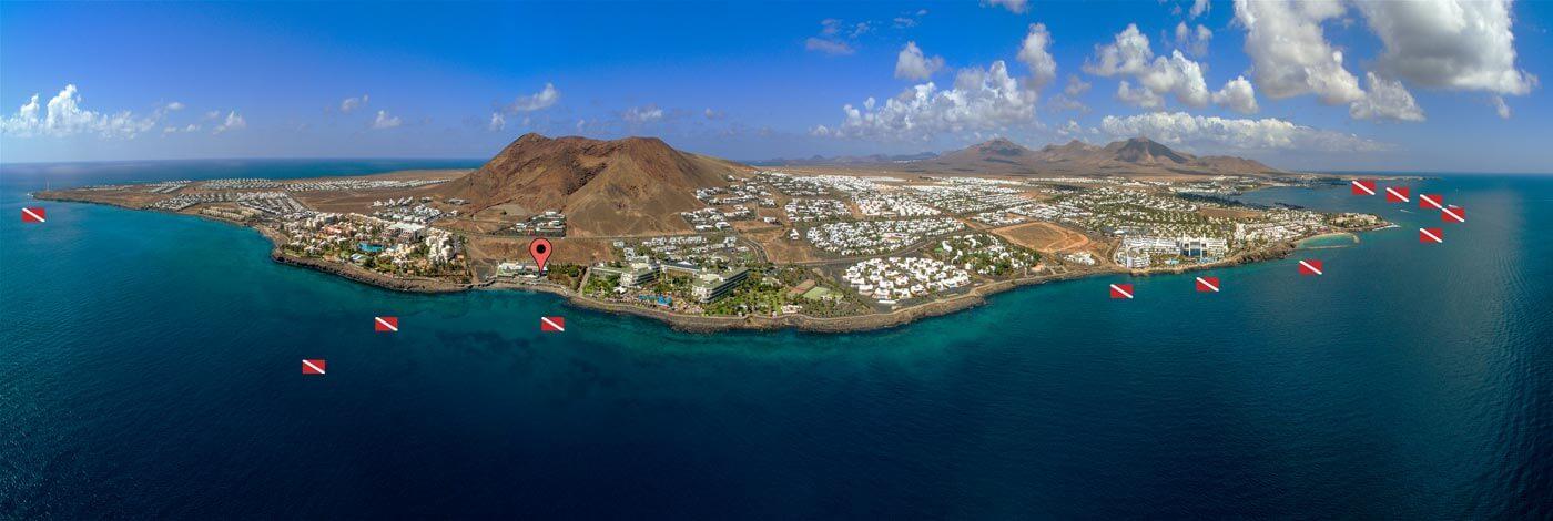 Dive Sites, Playa Blanca, Dive College Lanzarote