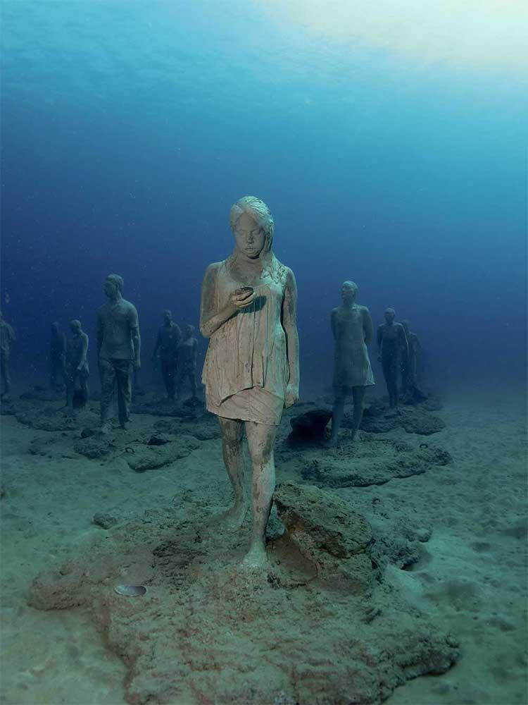 Museo Atlantico, underwater museum, Dive College Lanzarote, Playa Blanca